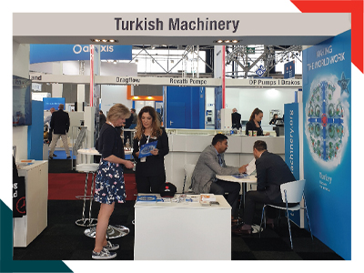 Turkish Machinery has participated in the Aquatech Exhibition